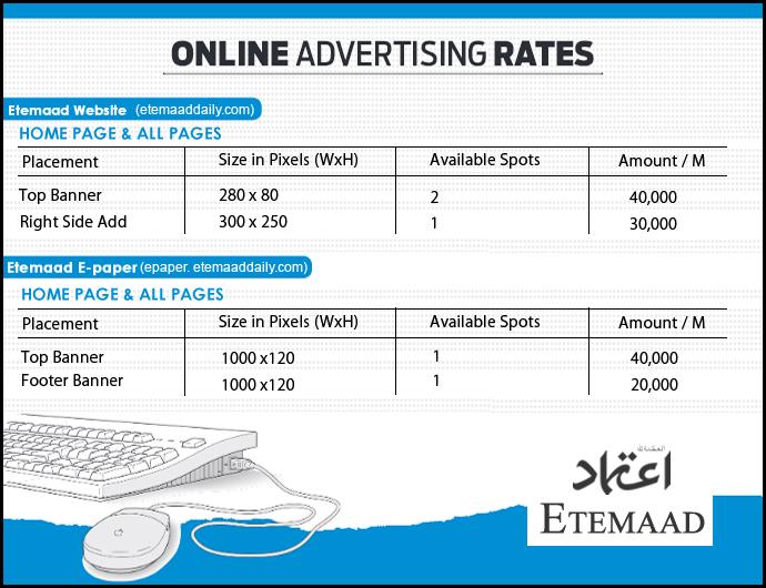 Etemaad Web Portal Tariff