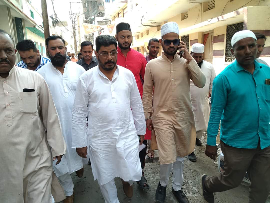 nampally-mla-jaffar-hussain-meraj-inspected-the-surrounding-areas-of-first-lancer-ahmed-nagar-division-after-namaz-e-jummah-