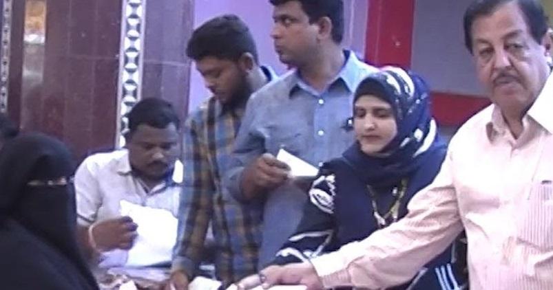 Hyderabad: Yakutpura MLA distributed Shadi Mubarak & Kalyana Laxmi cheques