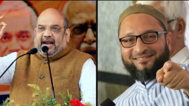 Asaduddin Owaisi dares Amit Shah to contest against him from Hyderabad