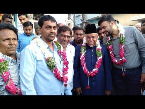 MIM candidate Syed Ahmed Pasha Qaudri conducts paidal daura in Yakutpura constituency