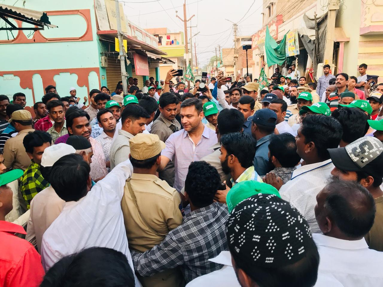 Floor Leader Janab Akbaruddin Owaisi Meeting People at Hafez Baba Nagar Under Chandrayangutta Constituency