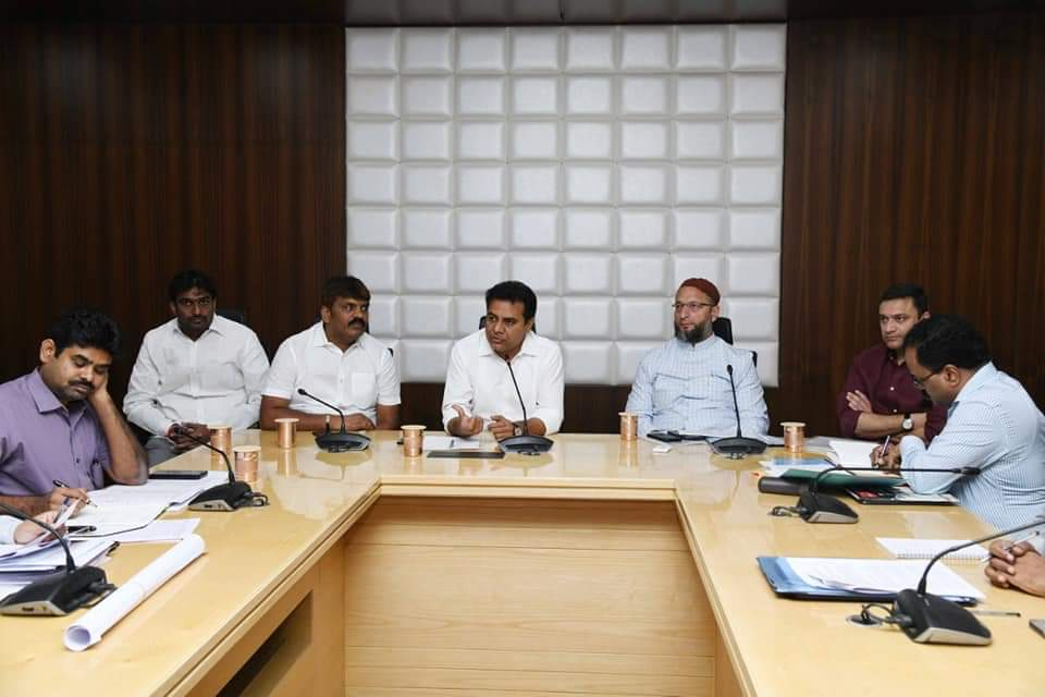 Parliamentary Constituency: Minister Sri.K.T.R, directs the officials to fast-track the ongoing developmental works in Hyderabad