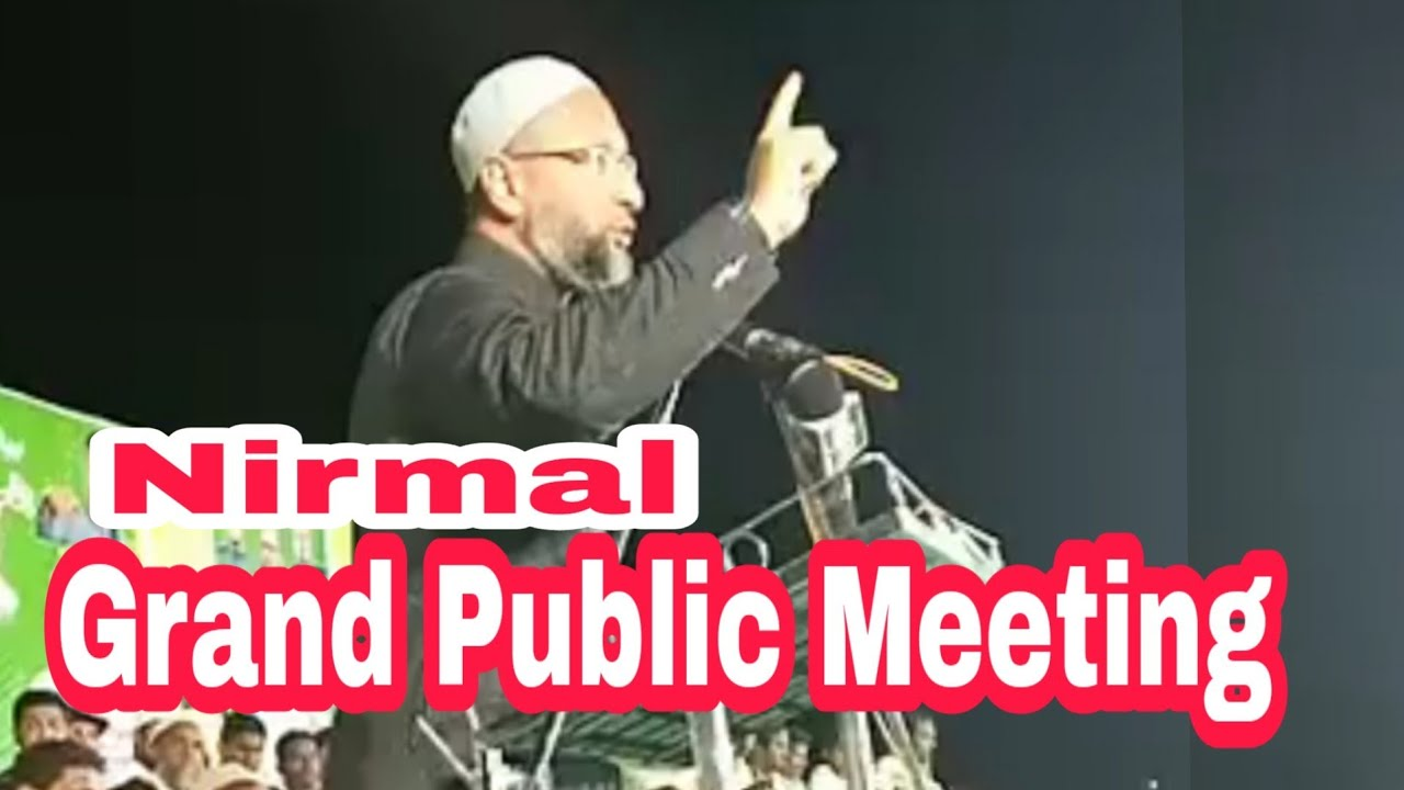 Congress offered Rs.25 lakh to cancel my rally in Nirmal: Asaduddin Owaisi