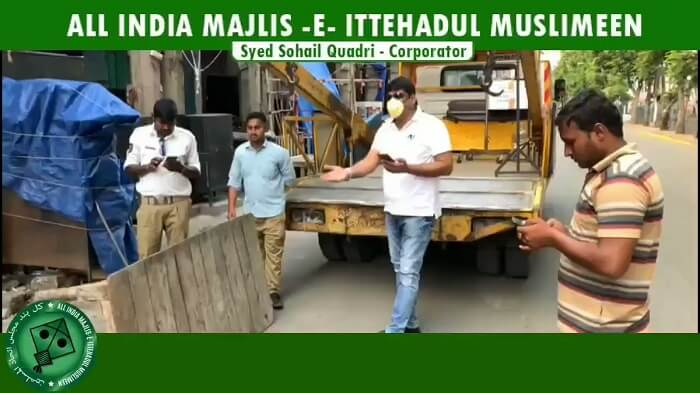 AIMIM Corporator Syed Sohail Quadri caught police red handed against seizing poor hawkers.