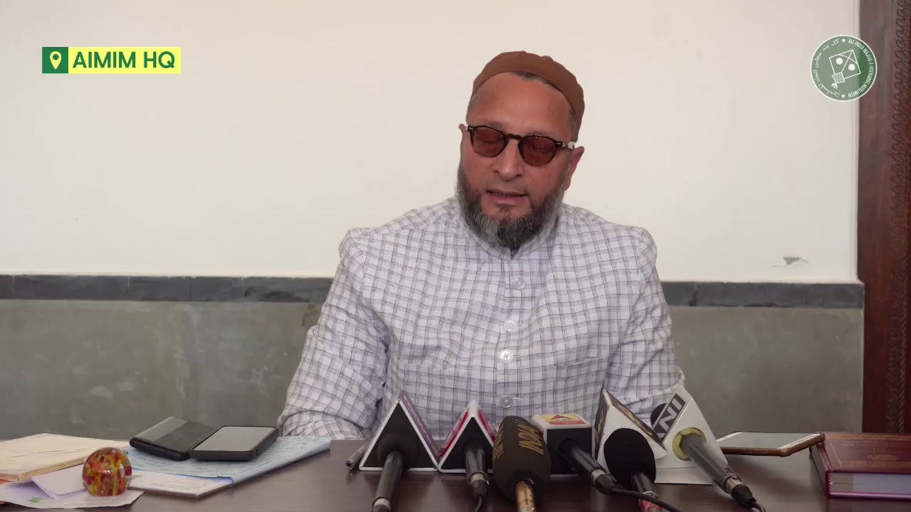Press Conference of Asaduddin Owaisi over Delhi Violence & Communal Rights - Darusalam, Hyd