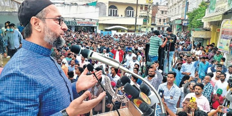 Asaduddin Owaisi lambasts the saffron party for its chief Bandi Sanjay Kumar
