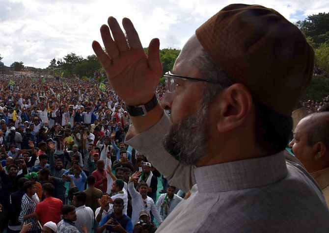 Owaisi says AIMIM is the only party that hit the roads against the CAA