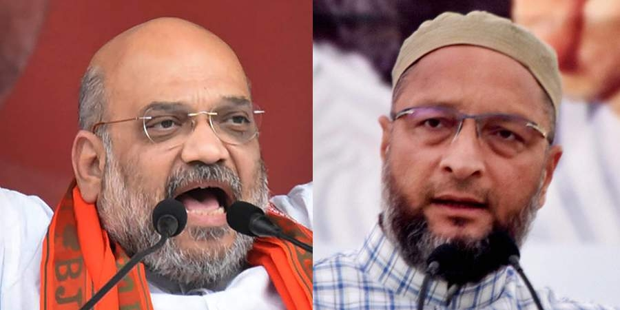 Owaisi, Shah lock horns in Lok Sabha
