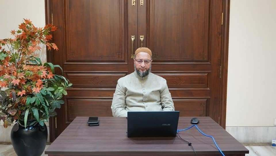 AIMIM Chief Asaduddin Owaisi held a marathon discussion for increasing Covid-19 tests in GHMC area
