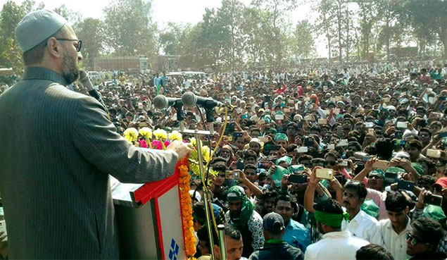 Owaisi kicks off the municipal election campaign in Bharuch