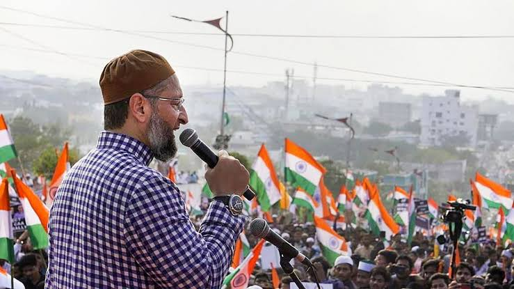 "Asaduddin Owaisi accuses RSS of terming the Indian National Flag as ""inauspicious"""