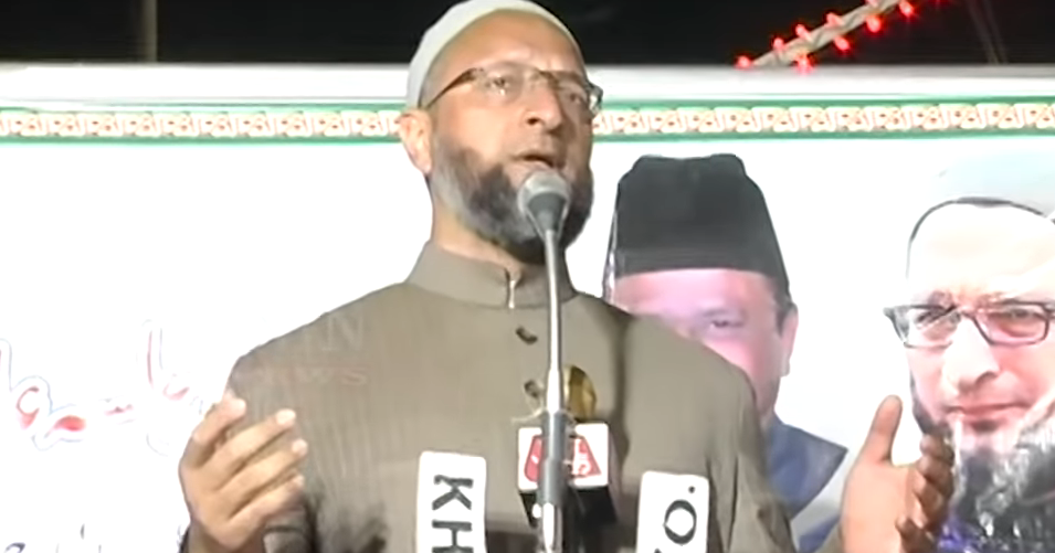 AIMIM Party President Barrister Asaduddin Owaisi addressing Public Meeting at Talabkatta