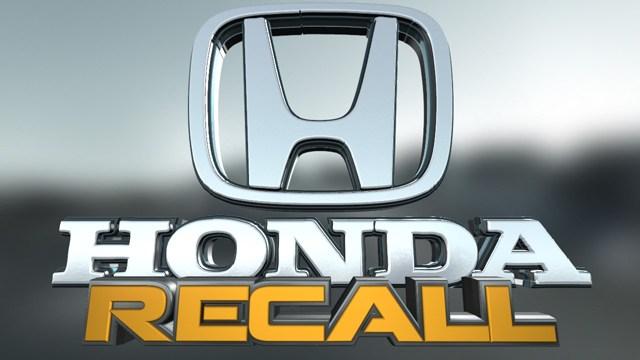 Honda recalls 772000 vehicles over defective air bag