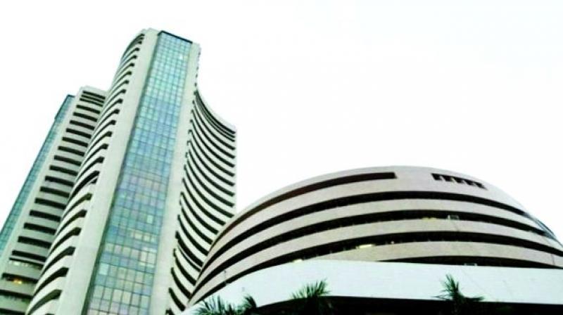 Sensex bounces 107 points on exports growth