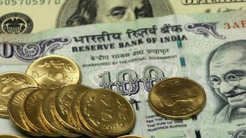 Rupee down 37 paise against US dollar