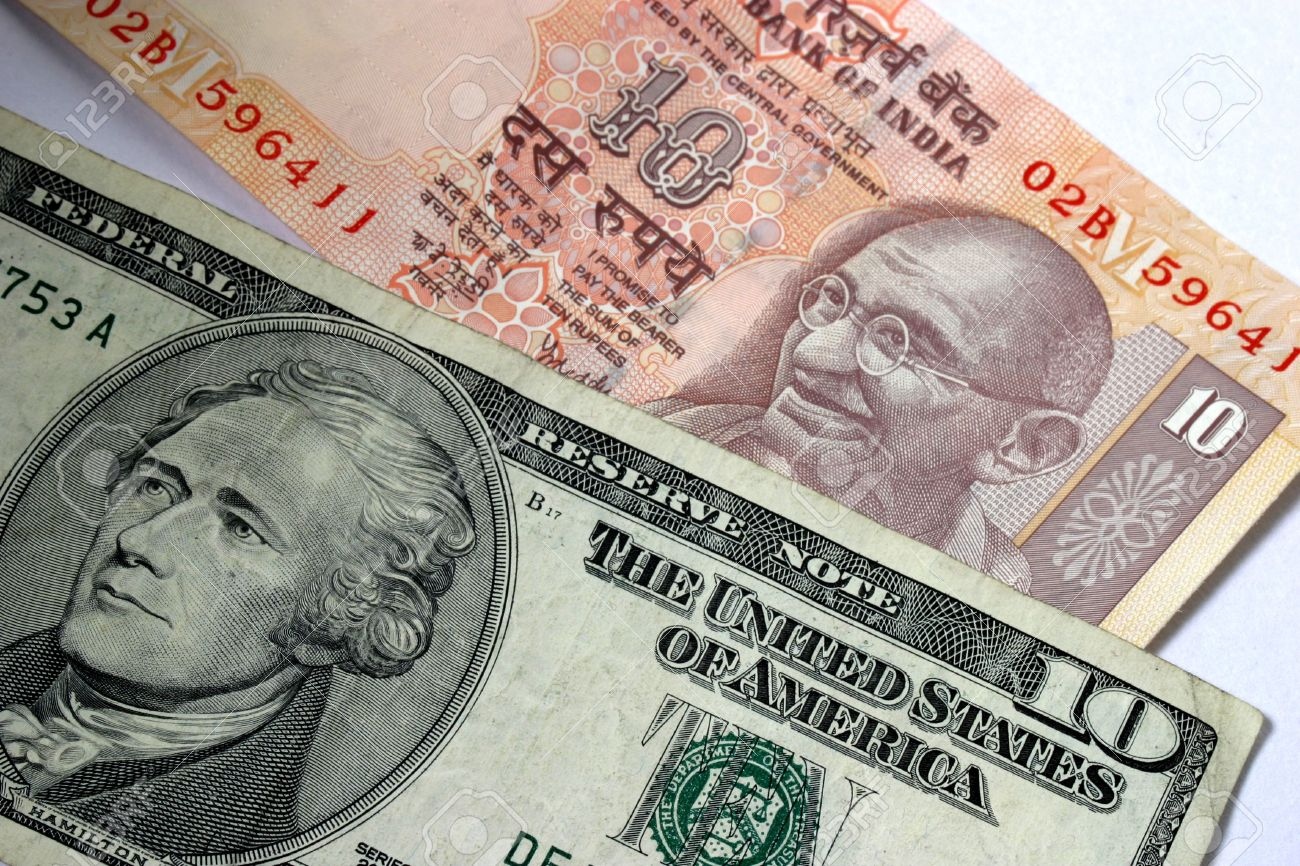 Rupee slips 10 paise against US dollar