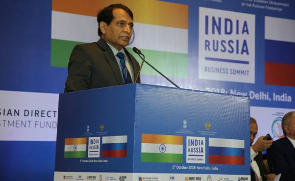 Prabhu announces setting up of fast track mechanism to promote Russian investments in India