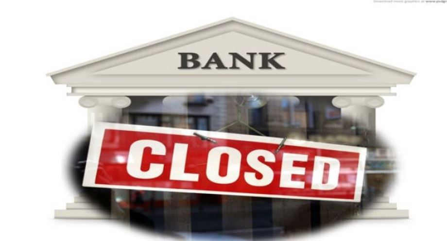 Banks will remain closed for five days