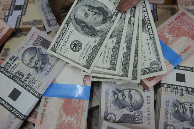 Rupee up 3 paise on sustained dollar-selling