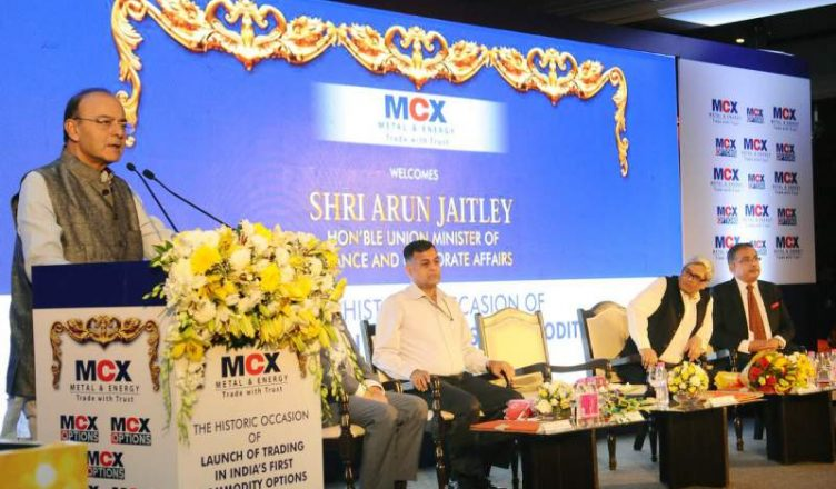 Jaitley launches options trading in gold on MCX