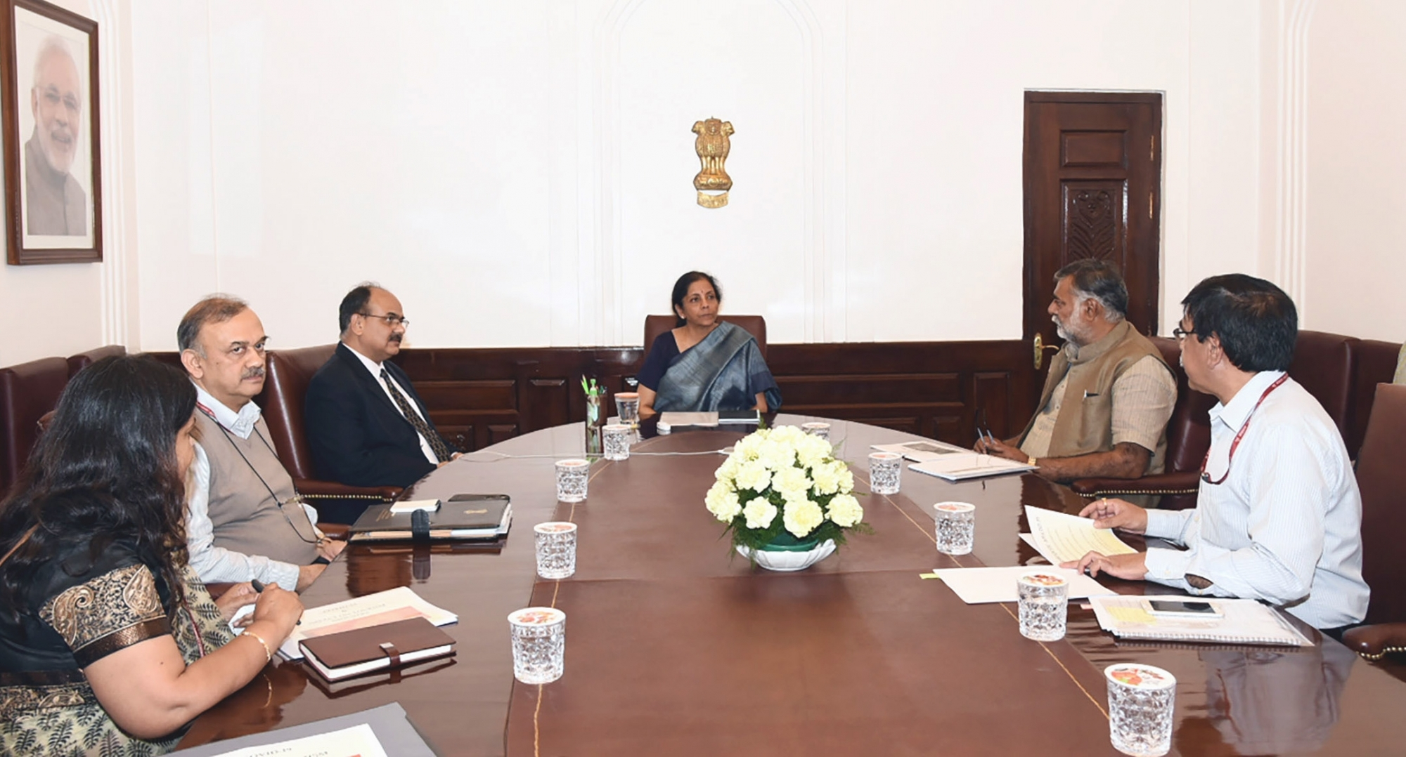 FM Nirmala Sitharaman attends Special Board of Governors meeting of NDB through video conference
