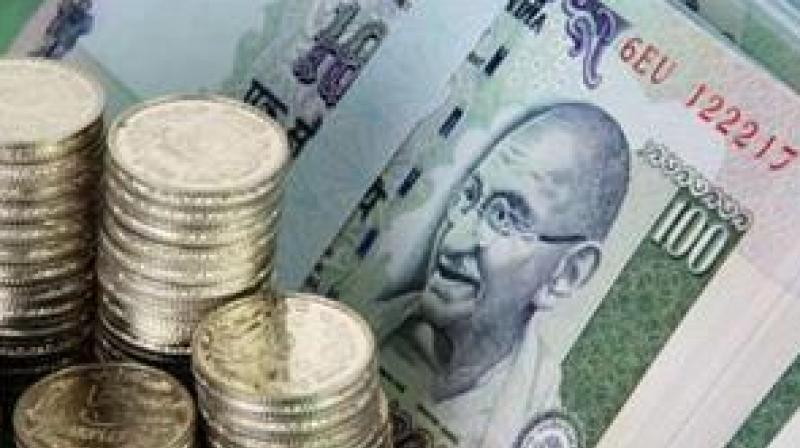 Rupee spurts 20 paise against dollar