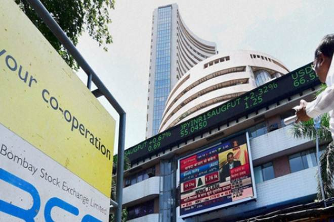 Sensex trips 97 points on global weakness