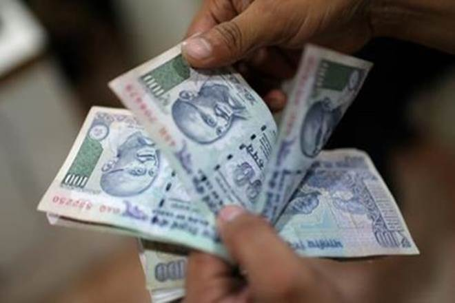 Rupee down 26 paise against US dollar