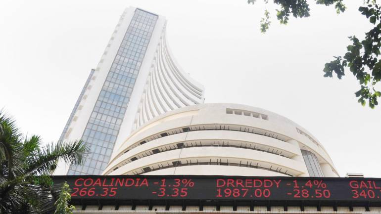 Sensex falls over 325 points on weak global cues