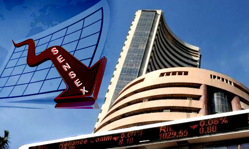 Sensex melts 238 points on disappointing macro data