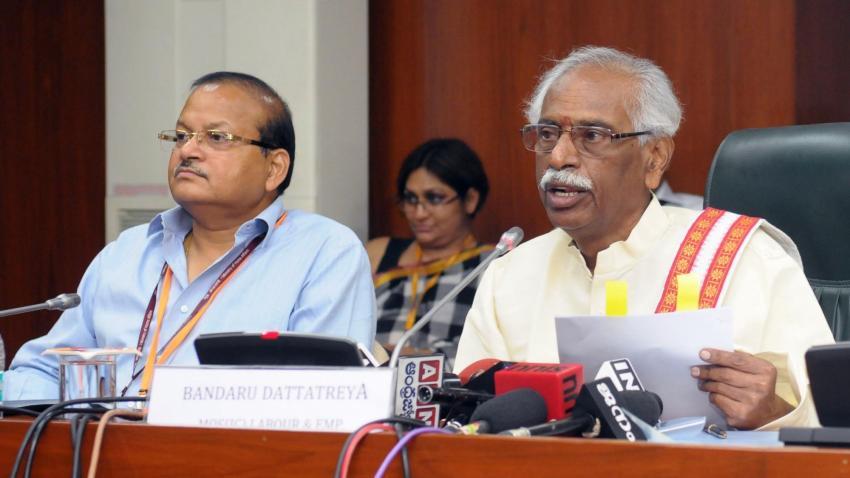 Finance Ministry ratifies 8.65 pc on EPF: Bandaru Dattatreya