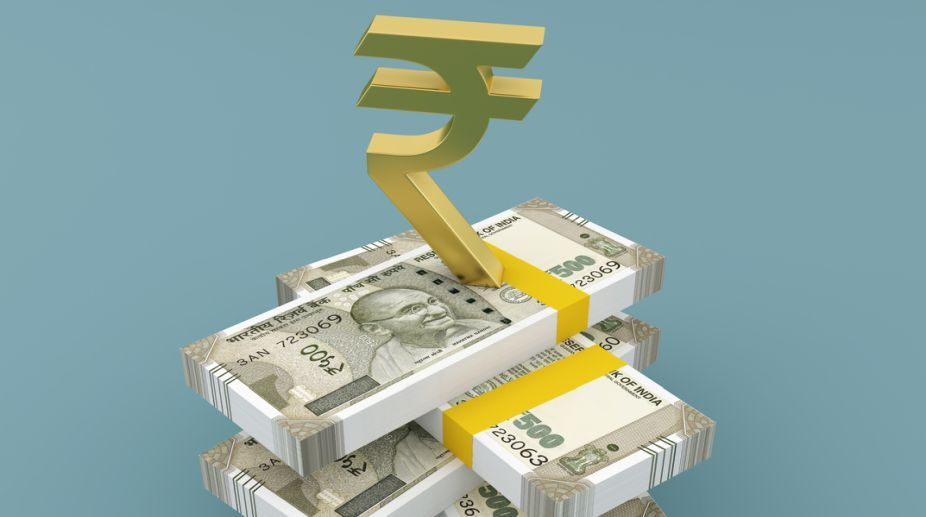 Rupee spurts 12 paise against dollar