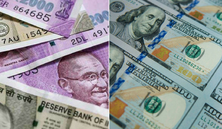 Rupee tumbles 22 paise against dollar on crude concerns