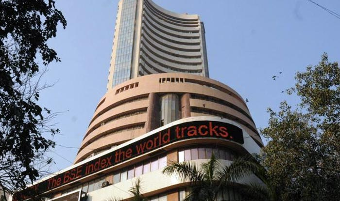 Sensex surges 90 points ahead of GDP data