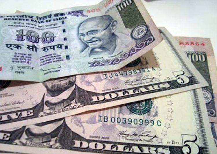 Rupee falls by 25 paise against dollar