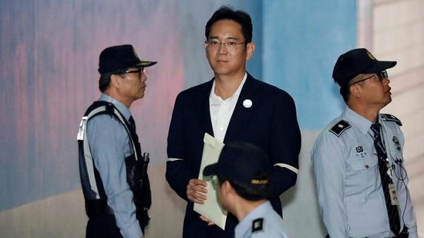 Samsung group scion denies corruption charges as legal appeal nears end