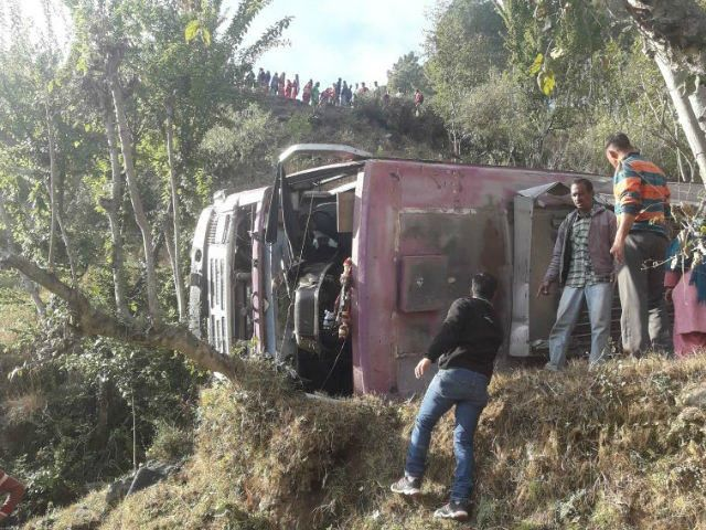 11 people killed and 19 injured as the bus falls into 500-metre-deep gorge in Mizoram
