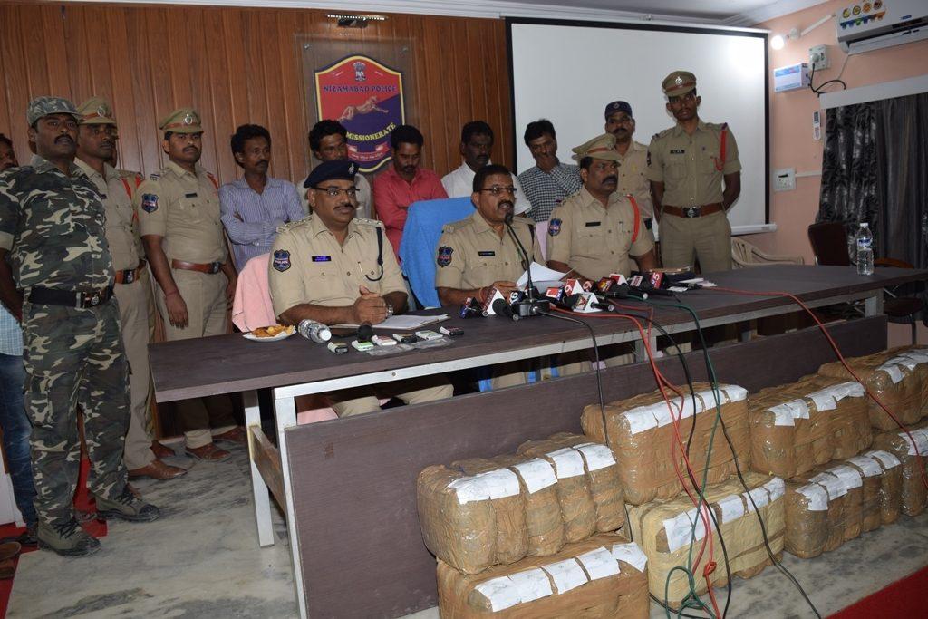 80 kg ganja seized in Nizamabad