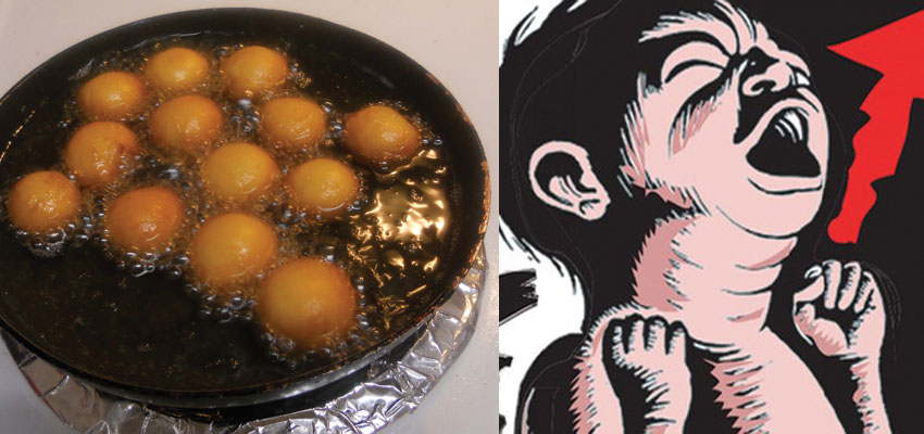 3 year old girl died after falling into pot of hot gulab jamun syrup in the Nashik district