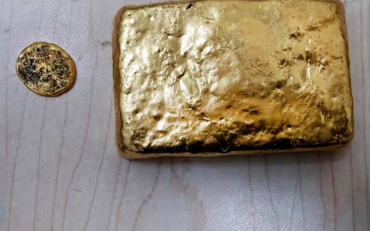 Gold seized from passenger at RGIA airport, Hyderabad