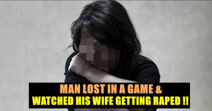 Odisha Man allegedly gambled away his wife and watched her getting rape after he lost the game.