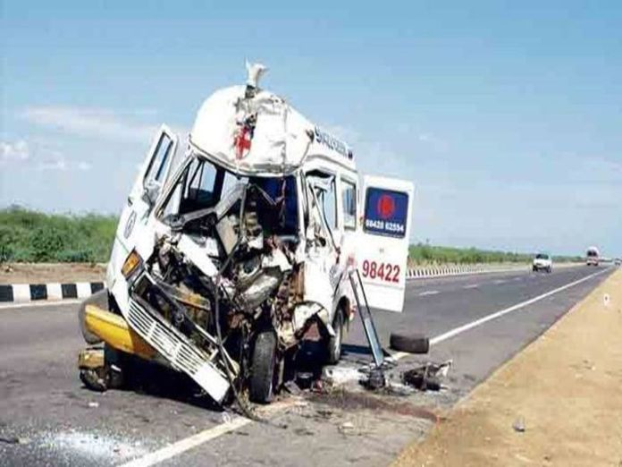 3-people-killed-in-car-ambulance-collision-in-hyderabad