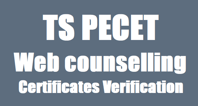 Counselling for PECET on June 27