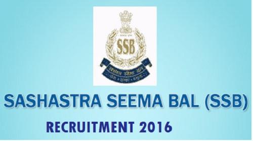 SSB Recruitment 2016 (2068 constable posts)