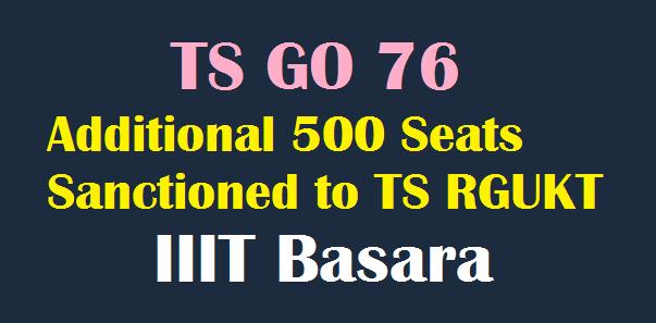 RGUKT gets 500 more seats for 2018