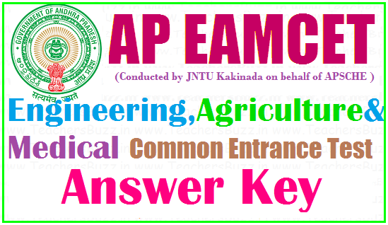 AP EAMCET 2019 answer key release