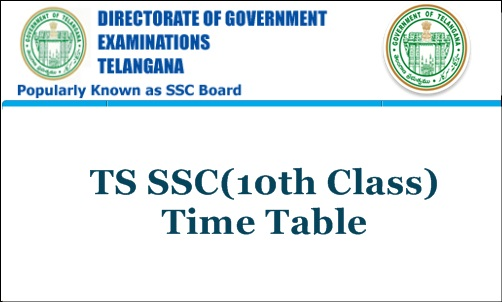 Telangana: SSC exams time-table