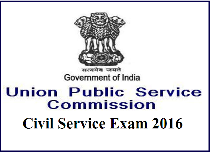 UPSC Civil Services Exam 2016