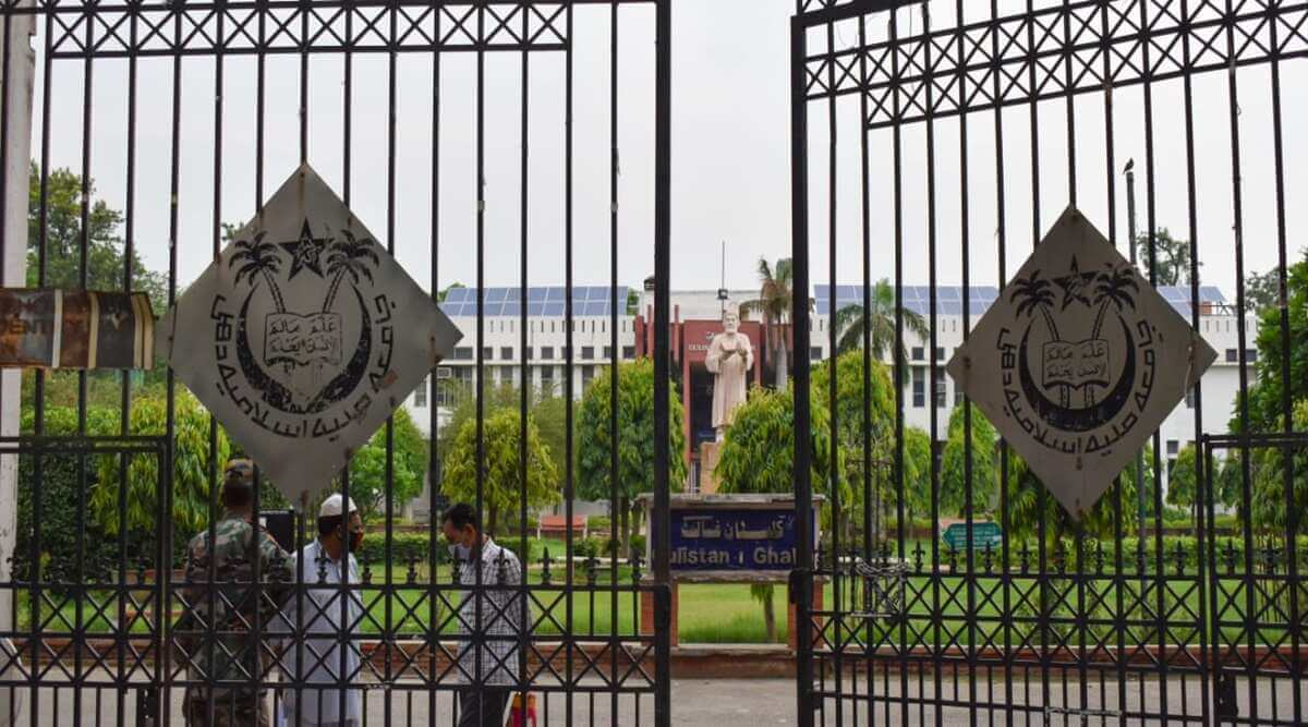 Jamia Millia Islamia students stage protest for reopening of campus and resumption of physical classes